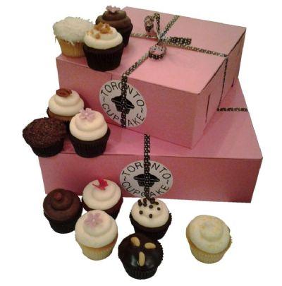 12 Fresh Baked Cupcakes
