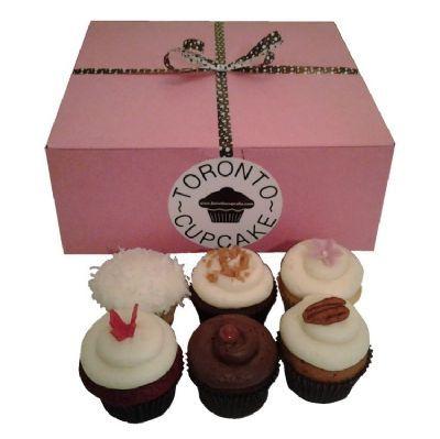 6 Fresh Baked Cupcakes