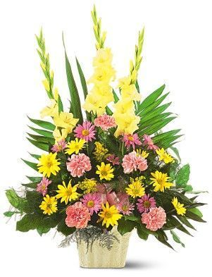 sympathy flowers, funeral flower arrangement