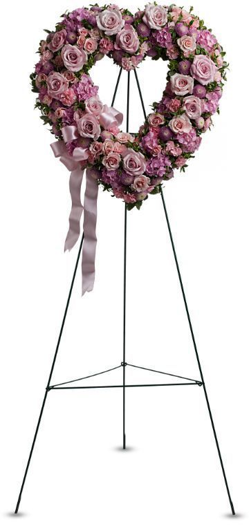 heart shaped funeral wreath, memorial wreath, tribute wreath, sympathy flowers, funeral flowers Toronto