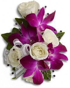 Fancy Orchids and Roses Wrist Corsage