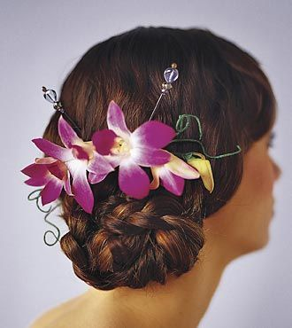Dendrobium Orchid Hairpiece