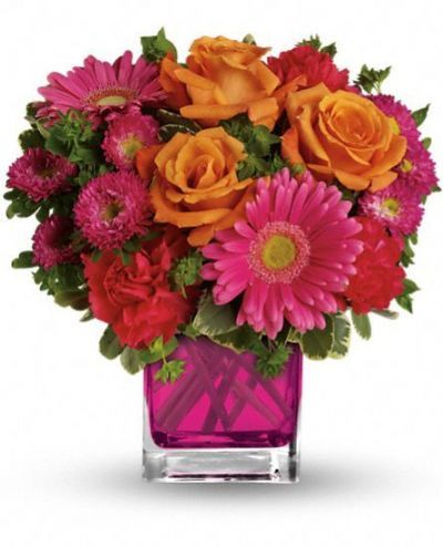 Turn up the Pink Bouquet 4165flower alma florist