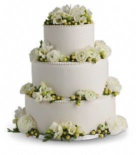 Freesia & Ranunculus Cake Decoration