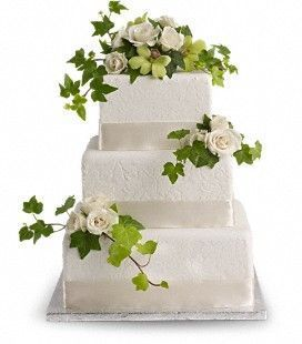 Roses & Ivy Cake Decoration