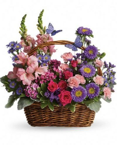 country meadow, bouquet, pink and purple bouquet, snapdragons, carnations, alstroemeria, matsumoto asters
