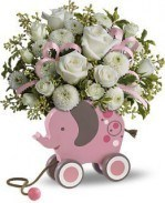 Sweet Little Lamb Bouquet – Baby Blue | 4165Flower.com