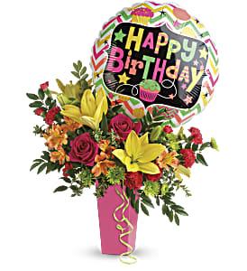 Birthday Bash Bouquet 4165 Flower Alma Florist
