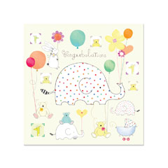 Papyrus - Baby Congratulations with Elephant